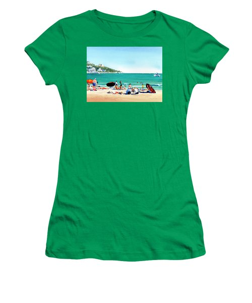 Beach At Roses, Spain Women's T-Shirt (Athletic Fit)