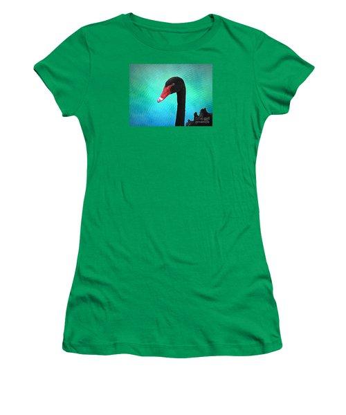 Black Swan Women's T-Shirt (Junior Cut) by Suzanne Handel