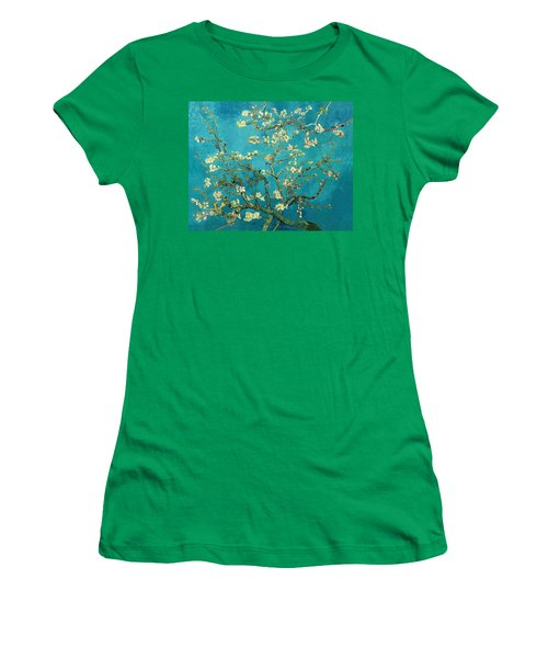Women's T-Shirt featuring the painting Blossoming Almond Tree by Van Gogh