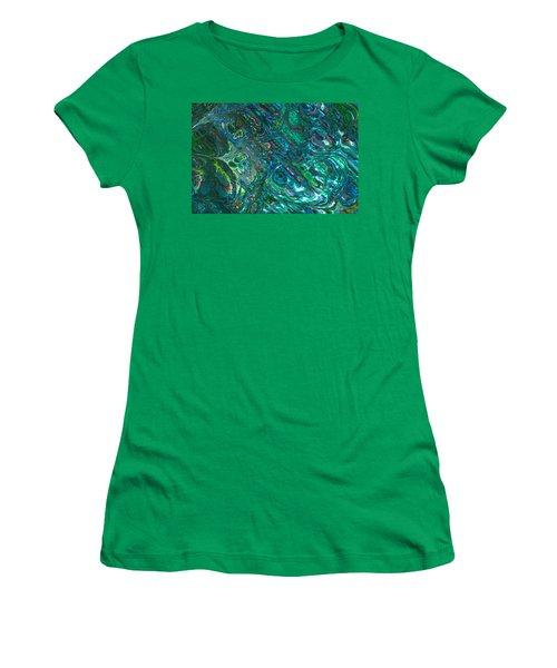 Blue Abalone Abstract Women's T-Shirt