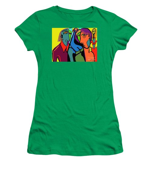 Blue Breasted Distraction Women's T-Shirt (Athletic Fit)