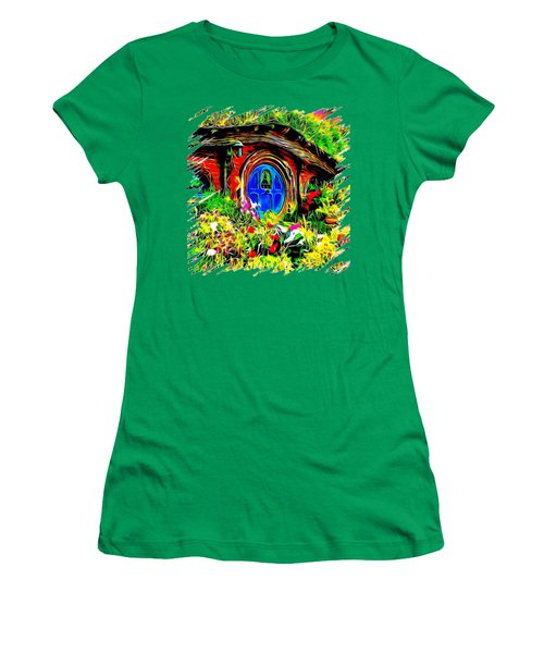 Blue Door Hobbit House-t Shirt Women's T-Shirt (Athletic Fit)