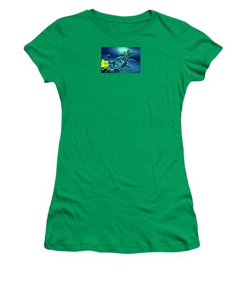 Women's T-Shirt (Junior Cut) featuring the photograph Blue Power  by Susanne Van Hulst