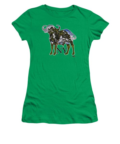 Buffalo Ny Delaware Park Women's T-Shirt (Junior Cut) by Michael Frank Jr