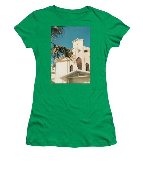 Building Behind Palm Tree In Ostia, Rome Women's T-Shirt (Athletic Fit)