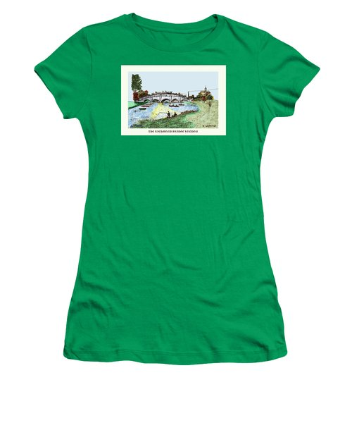 Busy Richmond Bridge Women's T-Shirt (Athletic Fit)