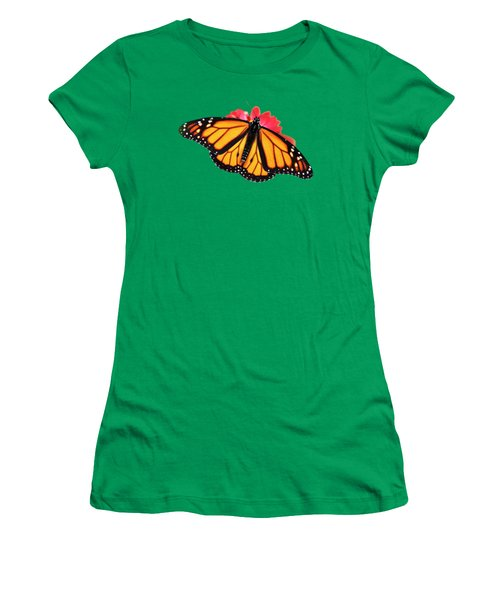 Butterfly Pattern Women's T-Shirt (Athletic Fit)