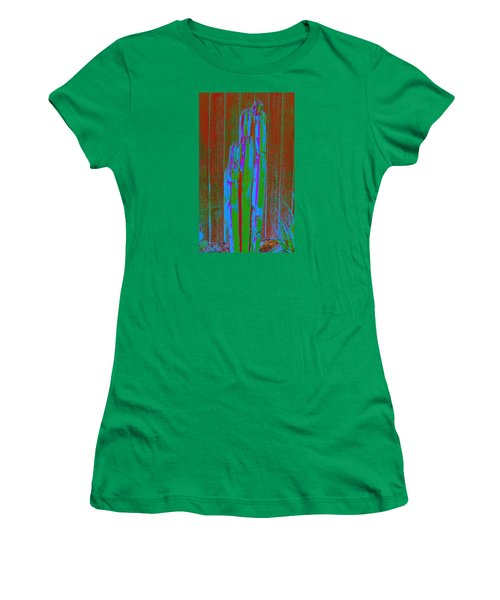 Women's T-Shirt (Junior Cut) featuring the photograph Cactus Stand by M Diane Bonaparte