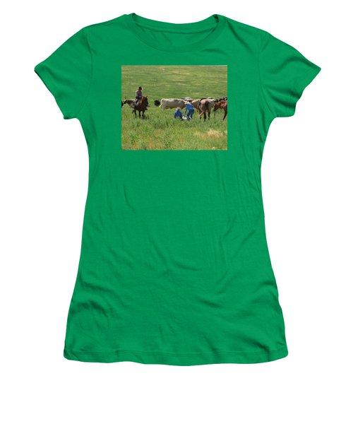Calf Roping Women's T-Shirt