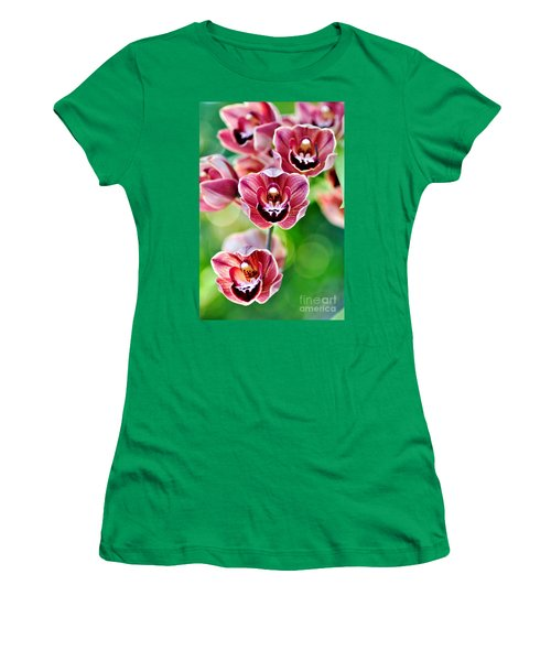 Cascading Miniature Orchids Women's T-Shirt