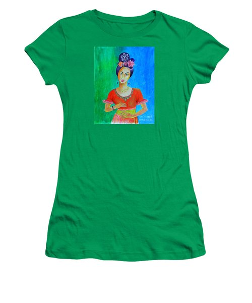 Chinese Dancer -- The Original -- Portrait Of Asian Woman Women's T-Shirt (Athletic Fit)