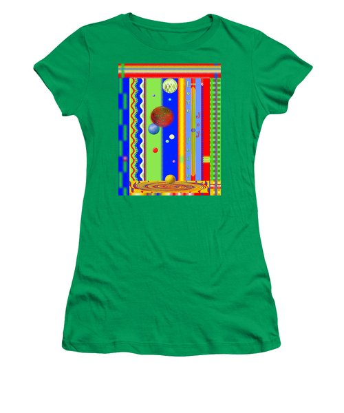Christmas Joy - Seasons Greetings - Holiday Art Women's T-Shirt (Athletic Fit)