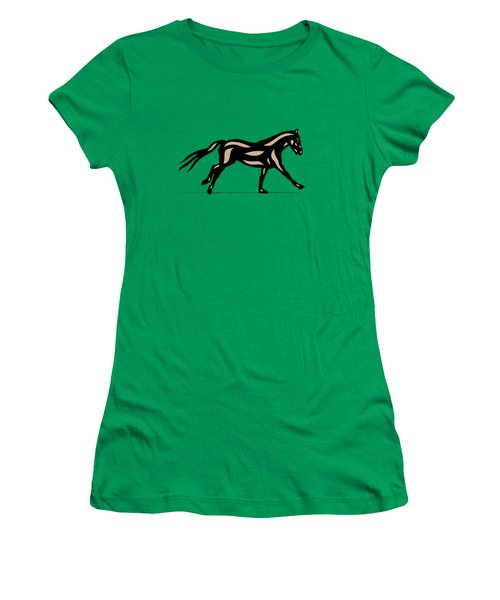 Clementine - Pop Art Horse - Black, Hazelnut, Emerald Women's T-Shirt (Athletic Fit)