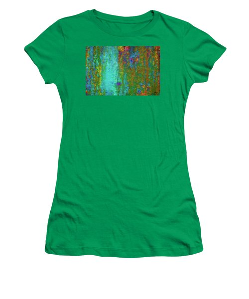 Color Abstraction Lxvii Women's T-Shirt (Athletic Fit)