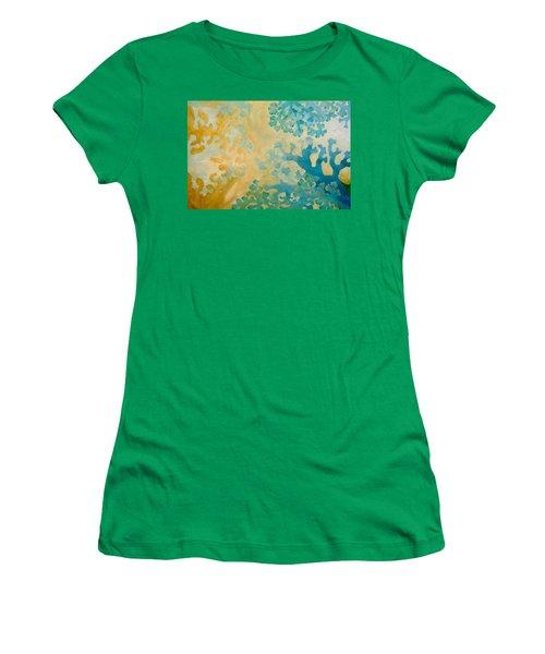 Cool Coral Women's T-Shirt (Junior Cut) by Dina Dargo