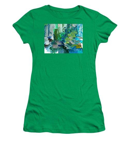Courtyard Women's T-Shirt (Junior Cut) by Alika Kumar