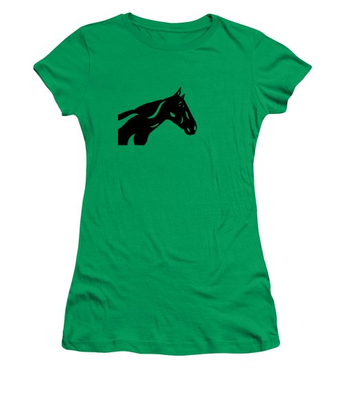 Crimson - Abstract Horse Women's T-Shirt (Athletic Fit)