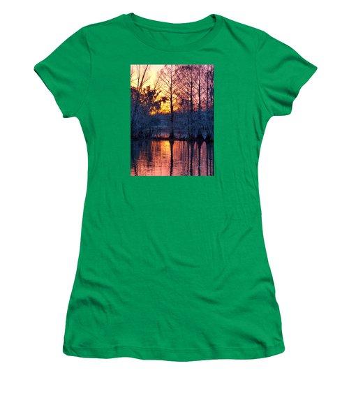 Cypress Sunrise Women's T-Shirt (Junior Cut) by Kimo Fernandez
