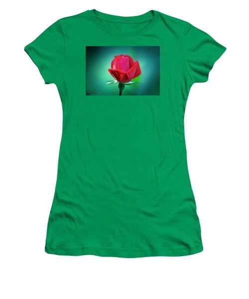 Delicate Rose Petals Women's T-Shirt (Athletic Fit)