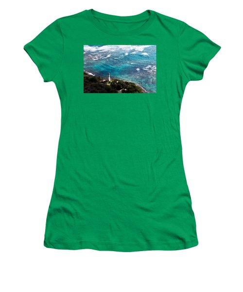 Diamond Head Lighthouse Women's T-Shirt (Athletic Fit)