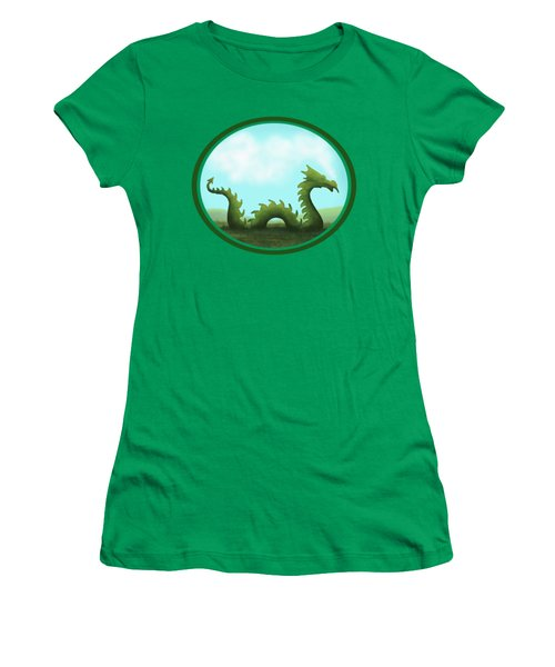 Dream Of A Dragon Women's T-Shirt (Junior Cut) by Little Bunny Sunshine