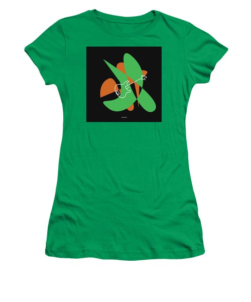 Electric Bass In Green Women's T-Shirt (Athletic Fit)