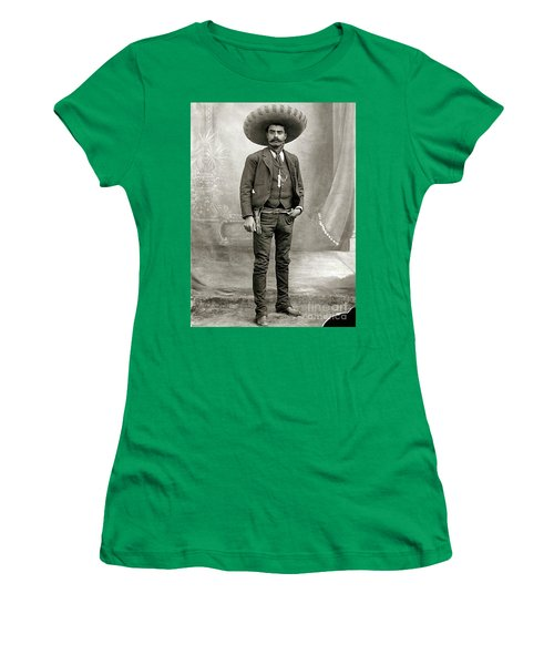 Women's T-Shirt (Junior Cut) featuring the photograph Emiliano Zapata by Roberto Prusso