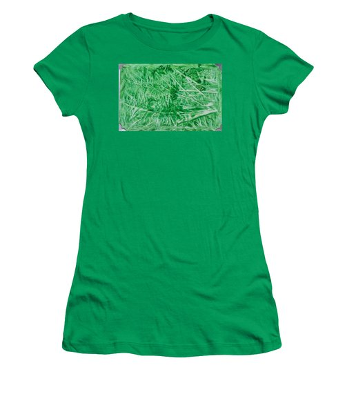 Encaustic Abstract Green Foliage Women's T-Shirt