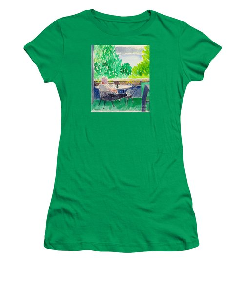 Enjoying The View-detail Women's T-Shirt (Athletic Fit)
