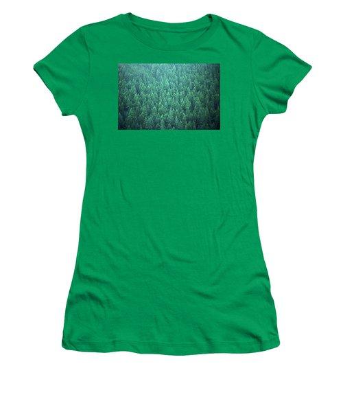 Women's T-Shirt (Junior Cut) featuring the photograph Evergreen by Laurie Stewart