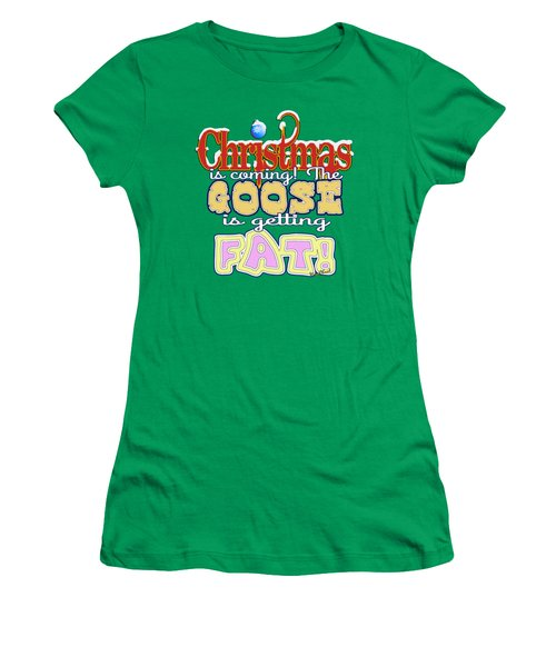 Fat Christmas Goose Women's T-Shirt (Athletic Fit)