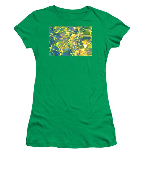 Fluttering Of Color Women's T-Shirt (Athletic Fit)