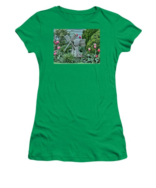 Garden Windmill Women's T-Shirt (Athletic Fit)