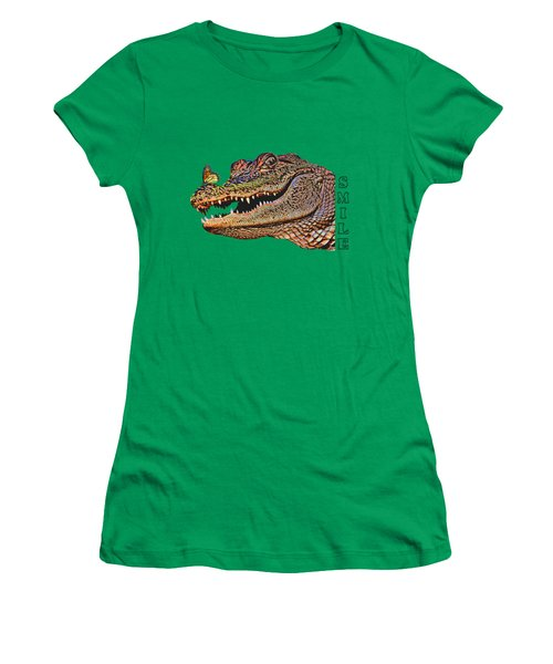 Gator Smile Women's T-Shirt (Athletic Fit)