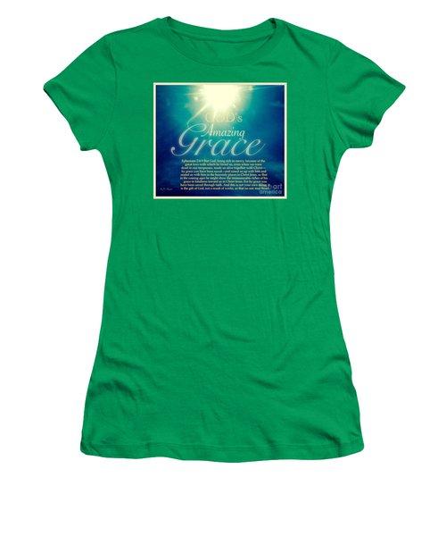 God's Amazing Gift Of Grace Women's T-Shirt (Junior Cut) by Kimberlee Baxter