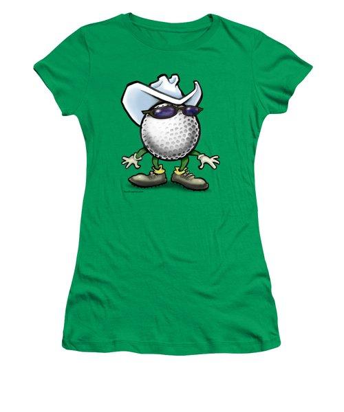 Golf Cowboy Women's T-Shirt (Junior Cut) by Kevin Middleton