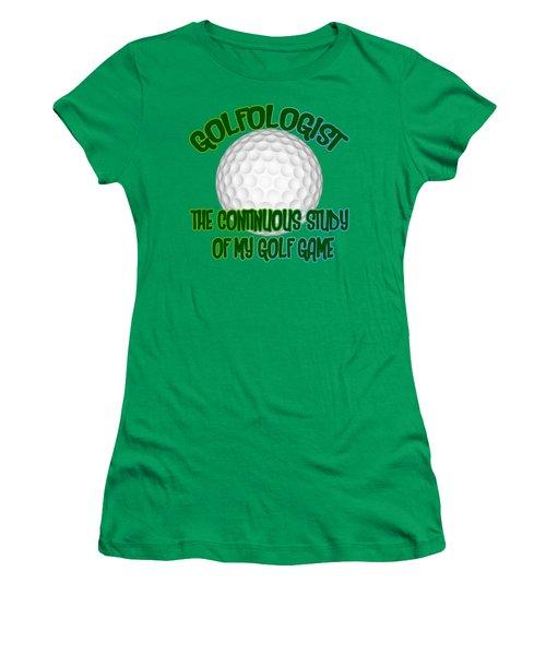 Golfologist Women's T-Shirt (Junior Cut) by David G Paul