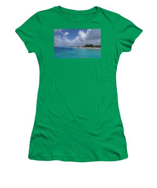 Women's T-Shirt (Junior Cut) featuring the photograph Grand Turk Beach by Lois Lepisto