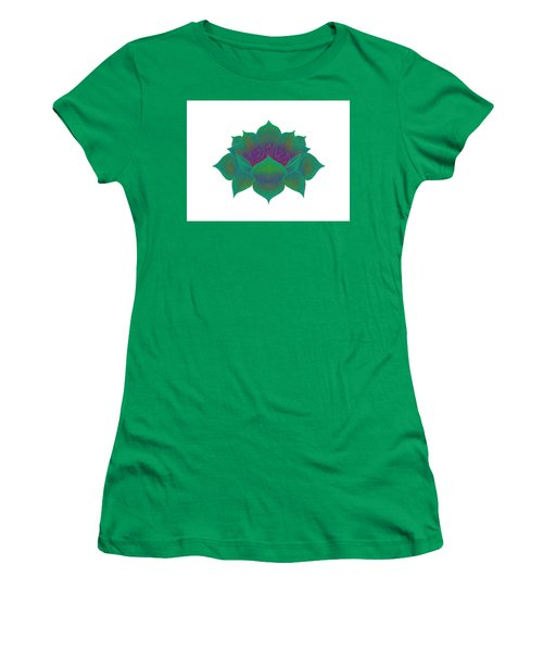 Women's T-Shirt (Athletic Fit) featuring the digital art Green Lotus by Elizabeth Lock