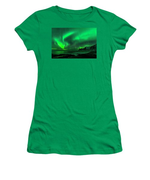 Green Skies At Night Women's T-Shirt