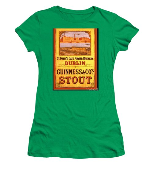 Guinness - Stout Women's T-Shirt (Junior Cut) by Pg Reproductions