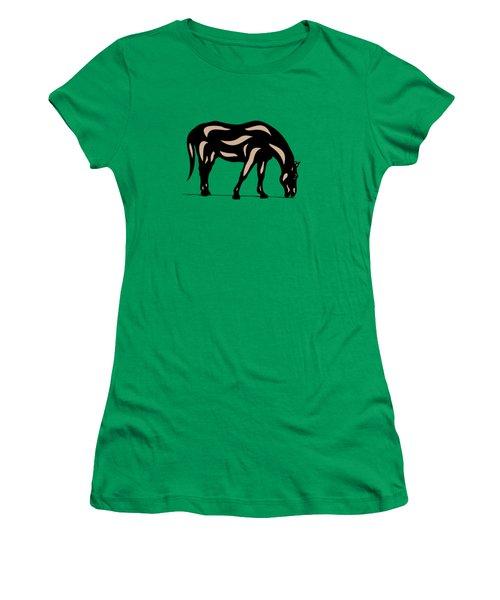 Hazel - Pop Art Horse - Black, Hazelnut, Greenery Women's T-Shirt