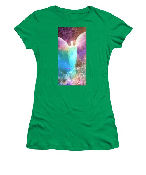 Healing Angels Women's T-Shirt (Athletic Fit)