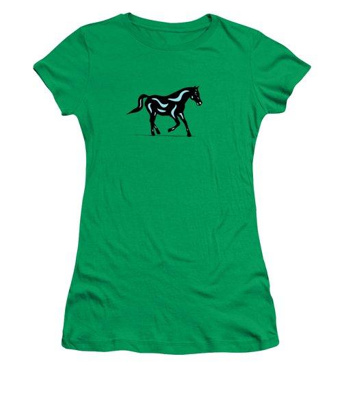 Heinrich - Pop Art Horse - Black, Island Paradise Blue, Greenery Women's T-Shirt