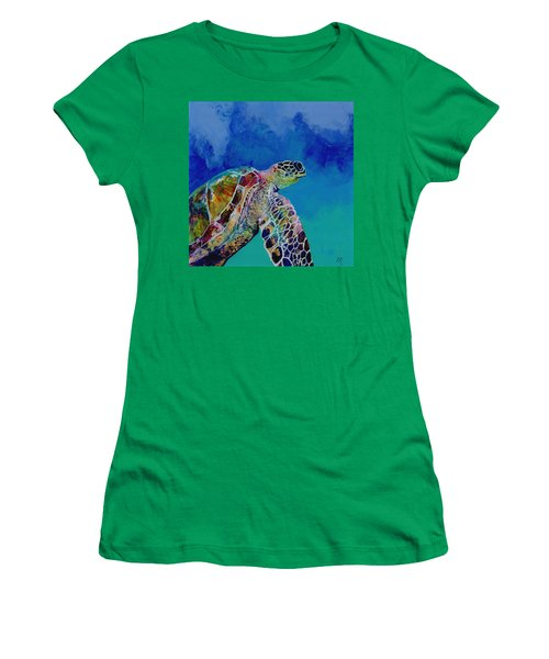 Honu 7 Women's T-Shirt (Athletic Fit)