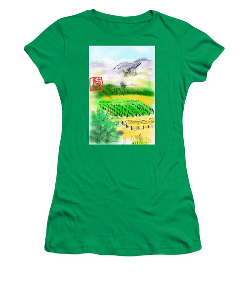 Idaho Vineyard Women's T-Shirt (Athletic Fit)