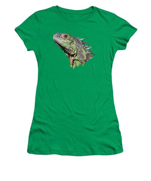 Women's T-Shirt (Junior Cut) featuring the photograph Iguana by Shane Bechler