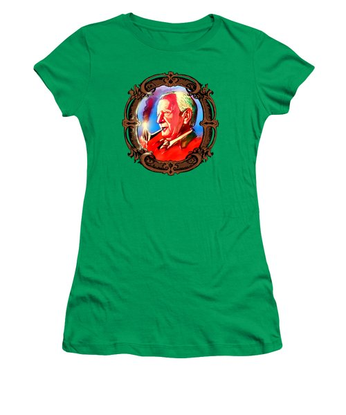 J. R. R. Tolkien With A Mount Doom Pipe  Women's T-Shirt (Athletic Fit)