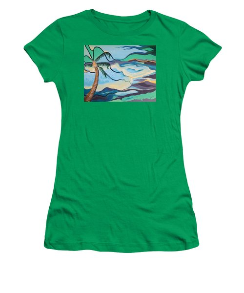 Jamaican Sea Breeze Women's T-Shirt (Athletic Fit)