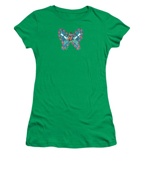 June Butterfly Women's T-Shirt (Athletic Fit)